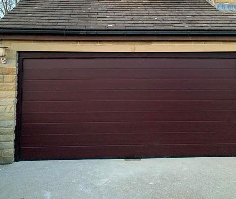 Brown mahogany garage door new Huddersfield