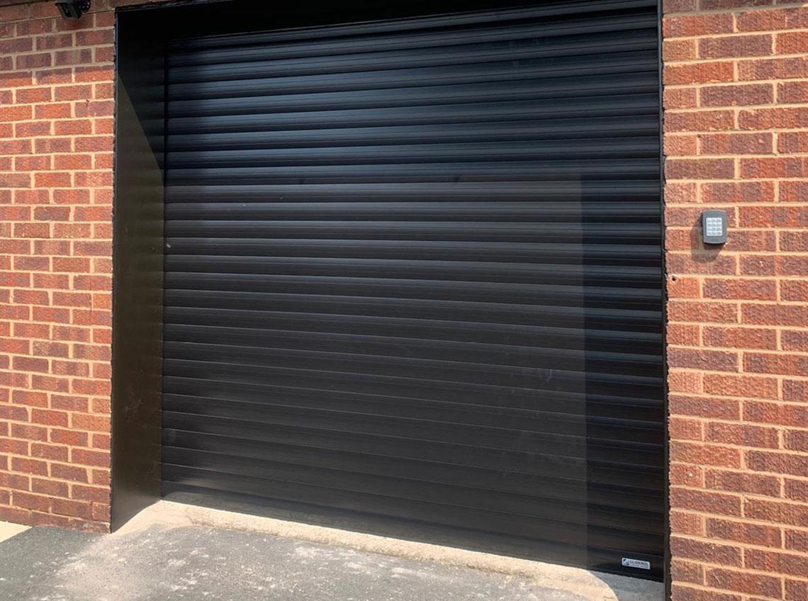 Black garage door modern contemporary Leeds