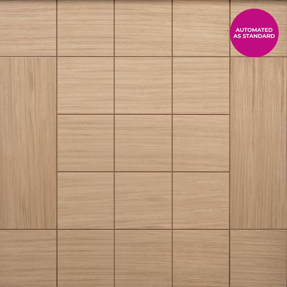 Deuren Timber Side Sectional Versare Garage Door - Automated as standard