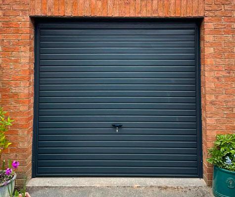 Black dark grey garage door new modern contemporary Wakefield
