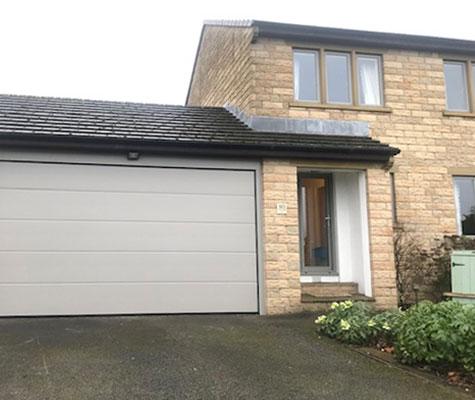 White light grey garage door modern contemporary new Harrogate