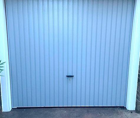 White garage door new modern contemporary Harrogate