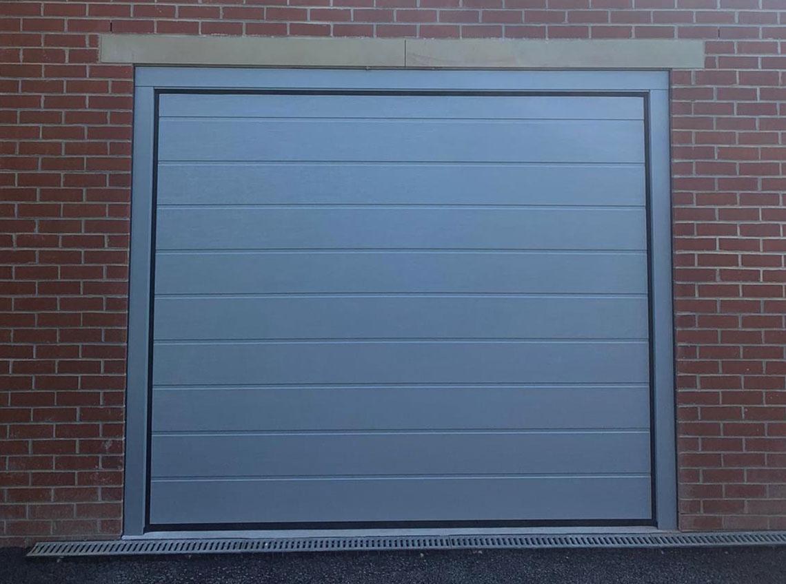 Grey garage door new modern contemporary Pontefract