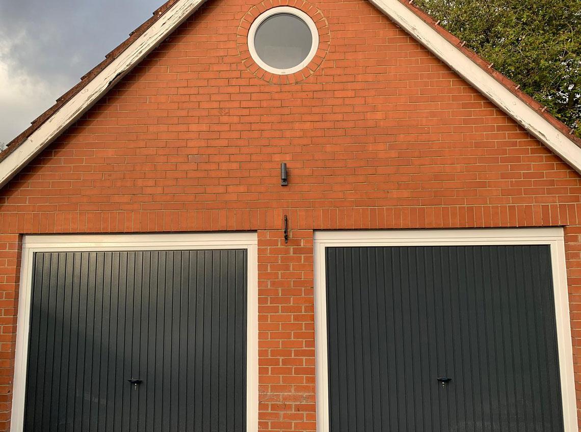 Black double garage doors new modern contemporary Pontefract